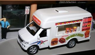 Fast Food Catering Truck Hot Dog Hamburger 1/43 Scale