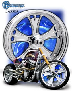 Performance Machine Gasser Chrome Motorcycle Wheels Harley Streetglide