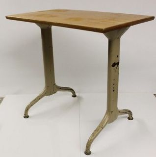 Mid Century Modern Metal Table/Desk       Machine Age Stool