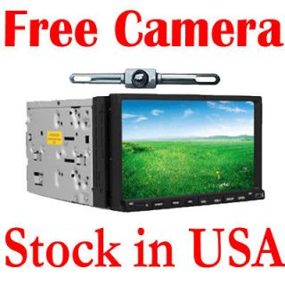 USB/SD Indash  Radio Car DVD Player 7 Touch Screen Headunit Camera