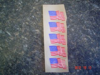 NFL Waiving American Flag Football Helmet Decals 20ml Lot of 5