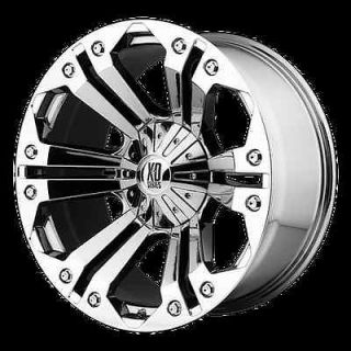 MONSTER CHROME RIMS & TIRES NITTO TERRA GRAPPLER 285X65X18 WHEELS