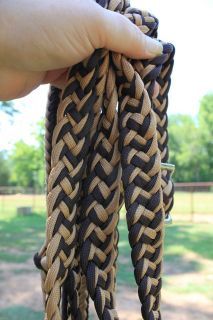 Brown and Tan Barrel Race Reins New Nylon Horse Tack