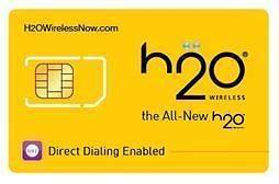 Prepaid H20 Wireless Sim/Micro Sim Card w/ Your Own Area Code+Free