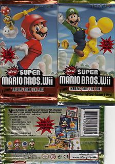SUPER MARIO BROS. WII TRADING CARD FUN PAK   SEALED PACK   7 DAYS