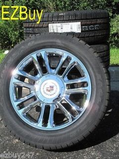 20 NEW ESCALADE PLATINUM FACTORY STYLE CHROME WHEELS GOODYEAR TIRES