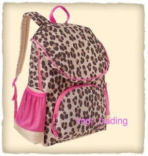 NWT GAP Kids Girls Leopard Print Senior Backpack Travel School Book