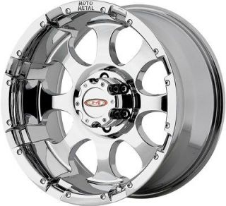 17 CHROME MOTO METAL 955 WHEELS RIMS GMC SIERRA SILVERADO TAHOE YUKON