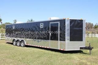 32 8.5X32 ENCLOSED RACE CARGO CAR HAULER TRAILER   LOADED