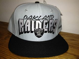 OAKLAND RAIDERS NFL SNAPBACK HAT RETRO HIGH CROWN LOGO BY REEBOK
