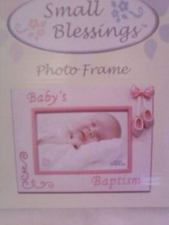 BABY GIRL BAPTISM PHOTO FRAME BY RUSS BERRIE GIFTS