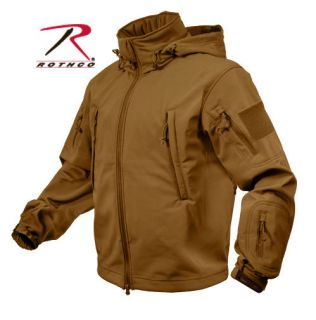 JACKET SOFT SHELL COYOTE BROWN SPECIAL OPS TACTICAL WATERPROOF SHELL