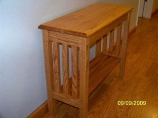 Mission Style Oak Sofa Hall Accent Table Arts & Crafts