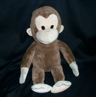 16 CURIOUS GEORGE APPLAUSE MONKEY BROWN STUFFED ANIMAL PLUSH TOY HTF