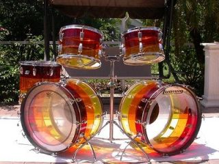 1970s LUDWIG DOUBLE BASS TEQUILA SUNRISE VISTALITE DRUM SET
