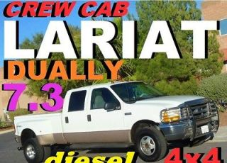 Ford  F 350 F 350 SD LARIAT 4X4 CREW CAB TURBO DIESEL DUALLY 1999