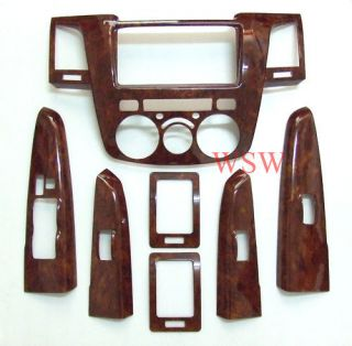 Wood Grain Dash Trim Kit For TOYOTA HILUX VIGO SR5 Pickup 4DR LH