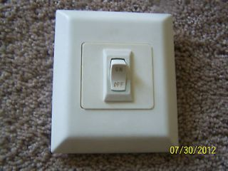 Fifth Wheel/Trailer Wall Light Switches Ivory