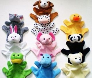 New 10 style Animal hand Puppets sack Preschool Plus toy 8