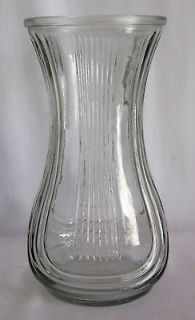 glass vase ribbed in Vases