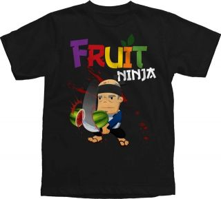 NEW Boys Youth Sizes Fruit Ninja Watermelon Game App Logo Title T