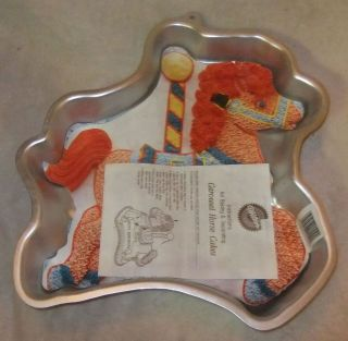 VTG 1990 Carousel Horse Wilton Cake Pan 2105 6507 With Insert and