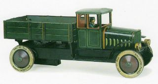 tin toy trucks in Vintage & Antique Toys