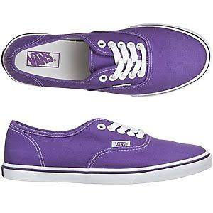 NIB Vans Authentic Lo Pro Royal Purple True White Women Shoes