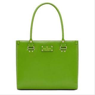 Kate Spade Quinn Leather Bag Tote purse NWT $395 Vine Green satchel