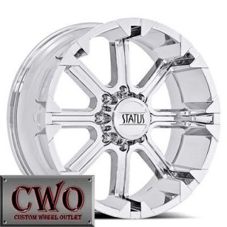Status Cannon Wheels Rims 6x139.7 6 Lug Chevy Tahoe Escalade GMC Yukon