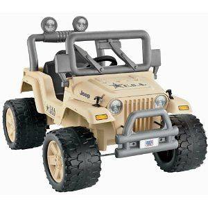 Power Wheels Camo Jeep Kids Battery Powered Ride On Military Army