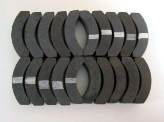 10 Pair NOS Aurora Thundetjet HO Scale Slot Car Magnets   Black