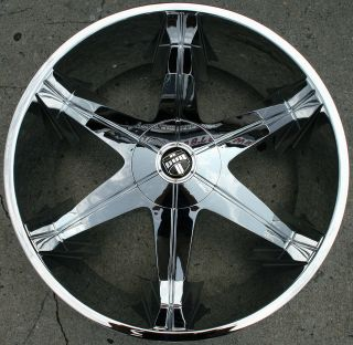 DUB BIG HOMIE 3 26 CHROME RIMS WHEELS ESCALADE 07 up / 26 X 9.5 6H