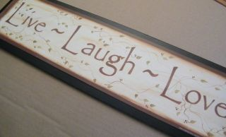 LIVE LAUGH LOVE~Country Inspirational Sign C Store 4 Inspiration Decor