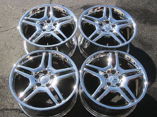 18 MERCEDES S55 AMG FACTORY CHROME WHEELS S430 S550 S500 CL550 CL500
