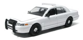 Greenlight 1/64 Blank White Ford Crown Vic Police Car   Great 4
