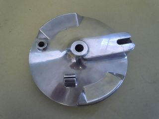 Ducati Bevel Drive Single brake backing plate 180MM fully polished