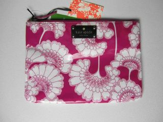 Kate Spade Florence Broadhurst Japanese Floral Gia Pink Cosmetic Pouch