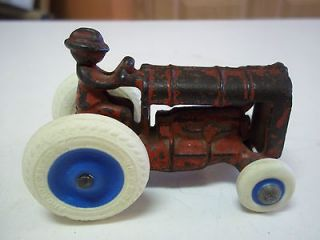 antique Arcade toy cast iron tractor red farm tractor Fordson balloon
