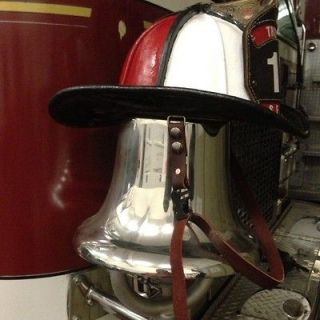 LEATHER FIREFIGHTER HELMET CHIN STRAP (Double Button)