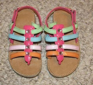 GYMBOREE POPSICLE PARTY THONG SANDALS STRAPPY RAINBOW GEM JEWEL GIRLS