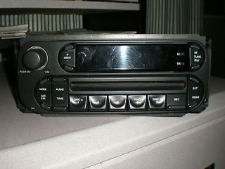 Chrysler Dodge Jeep Wrangler Ram Dakota Radio CD w/ SAT Accessories