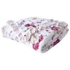 NWOT Simply Shabby Chic Pink Floral Cozy Blanket Full / Queen