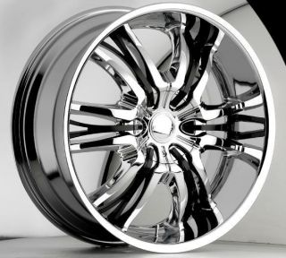 22 inch Cattivo 767 chrome black wheels rims 5x115 +15