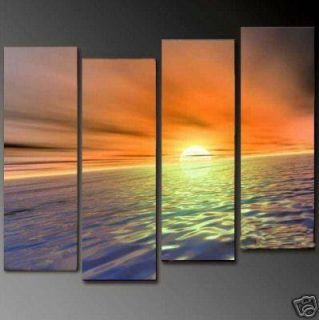 Hot SellModern Abstract Large Oil painting On Canvas Art  Sea Sunrise