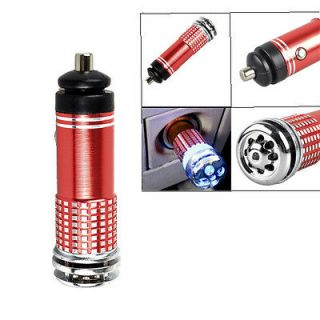 Auto Car Fresh Air Ionic Purifier Oxygen Bar Ozone Ionizer Cleaner Red