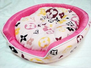LOVELY PINK DOG BEDS Mat Crate Pets Dog Cat SMALL