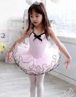 Girls Party Dance Ballet Tutu Dress Costume 4 5 Y Pink Color