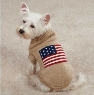 Zoey Americana Flag Sweater Pet Dog Knit Sweater XXS XL sweaters top