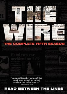 The Wire   The Complete Fifth Season DVD, 2008, 4 Disc Set